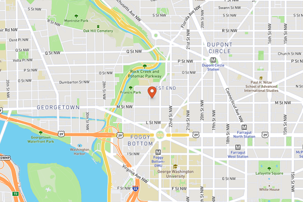 Park Hyatt Washington Map